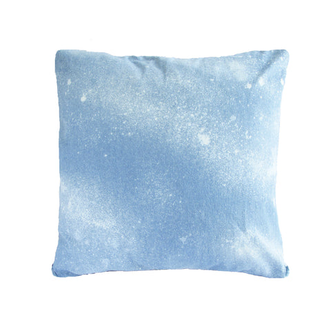 26x26 PRINTED LINEN PILLOW: ACID WASH DENIM PRINT