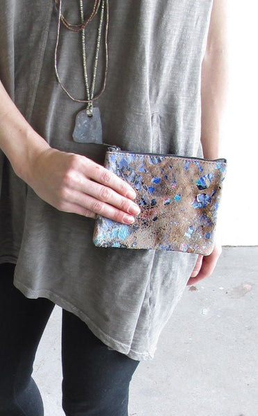 WAYWARD: leather pouch - earth