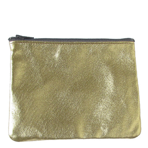 WAYWARD: leather pouch gold
