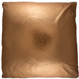 19X19 Leather Throw Pillow - METALLIC COPPER