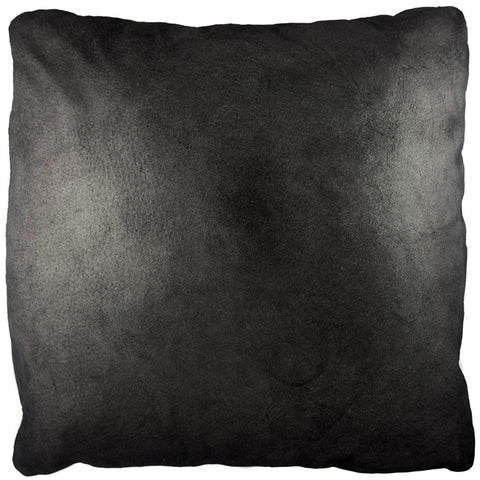19X19 Leather Throw Pillow - METALLIC BLACK