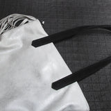Leather Tote - SILVER CLOUD