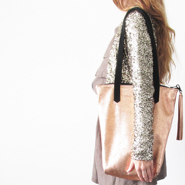 shop our leather totes