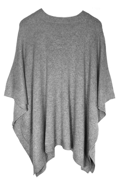 FINE KNIT CASHMERE FEEL PONCHO