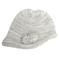 7195 - HORIZONTAL RIBBED GRADATION HAT W/ POM