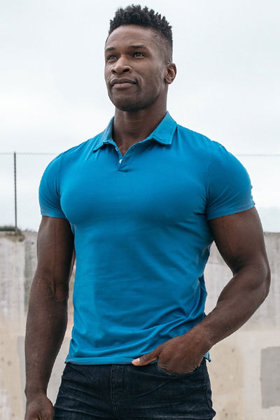 Havok Polo in Steel Blue