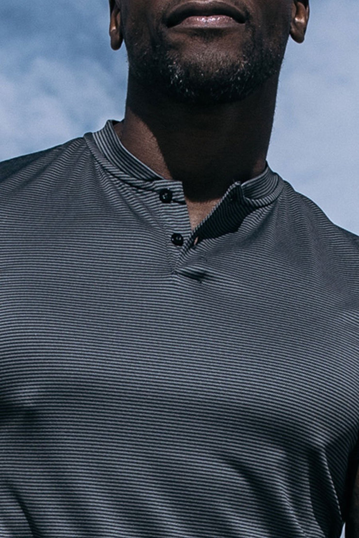 Stealth Polo in Black Stripe