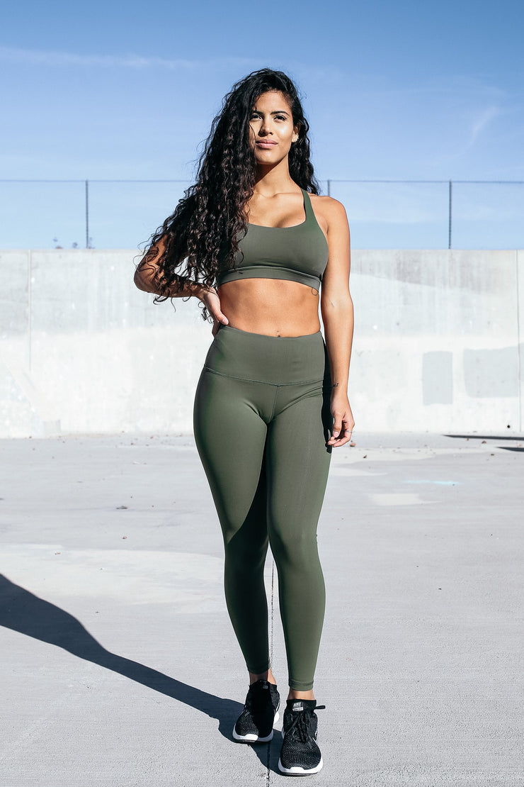 Form Leggings in Rifle Green