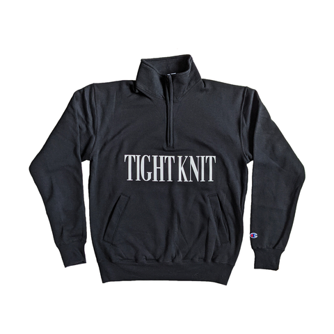 Black Tight Knit Eco Fleece 1/4 Zip - Tight Knit Clothing