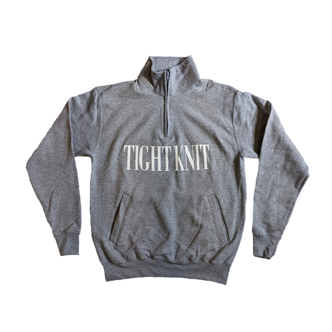 Grey Tight Knit Eco Fleece 1/4 Zip - Tight Knit Clothing