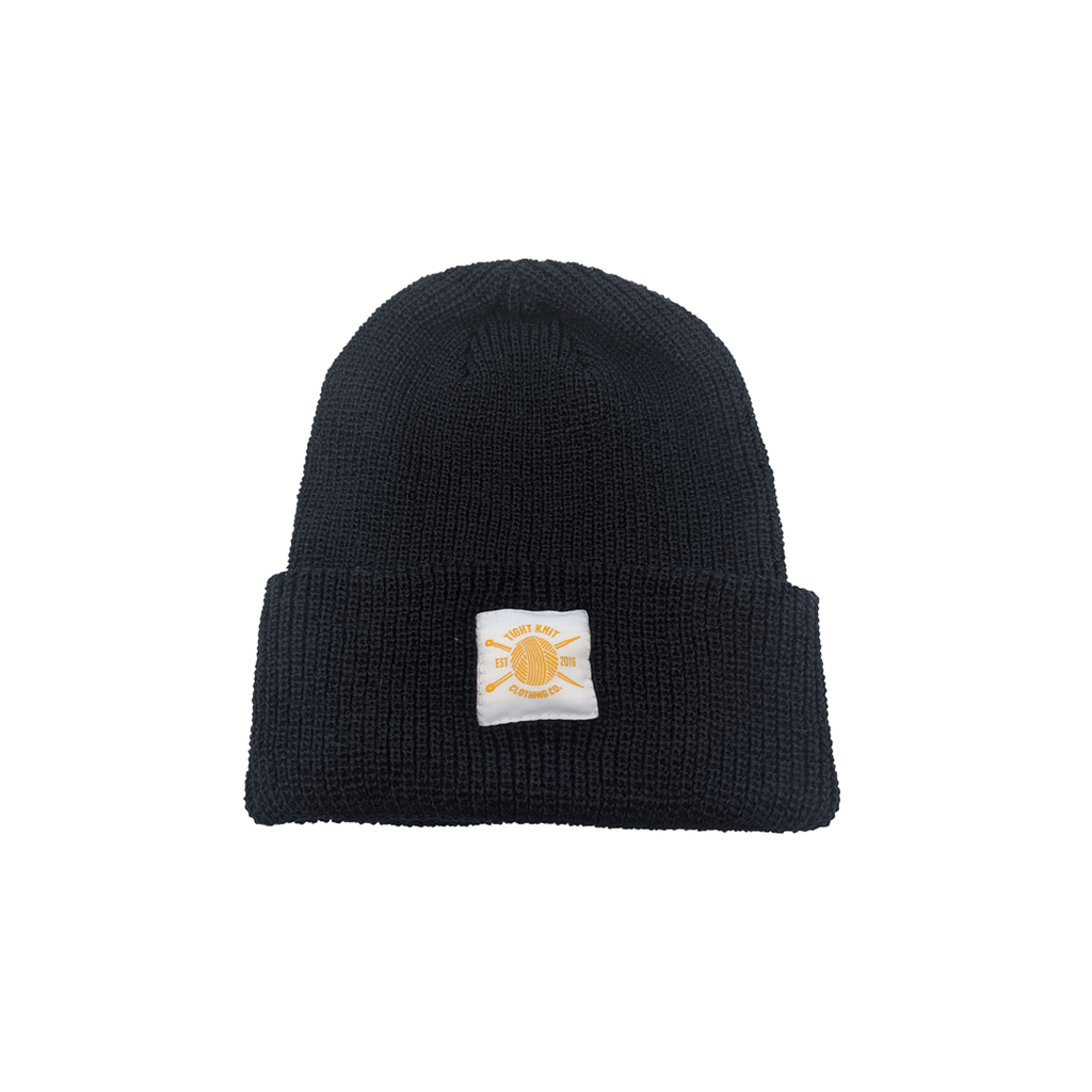 Tight Knit Ribbed Cuff Toque