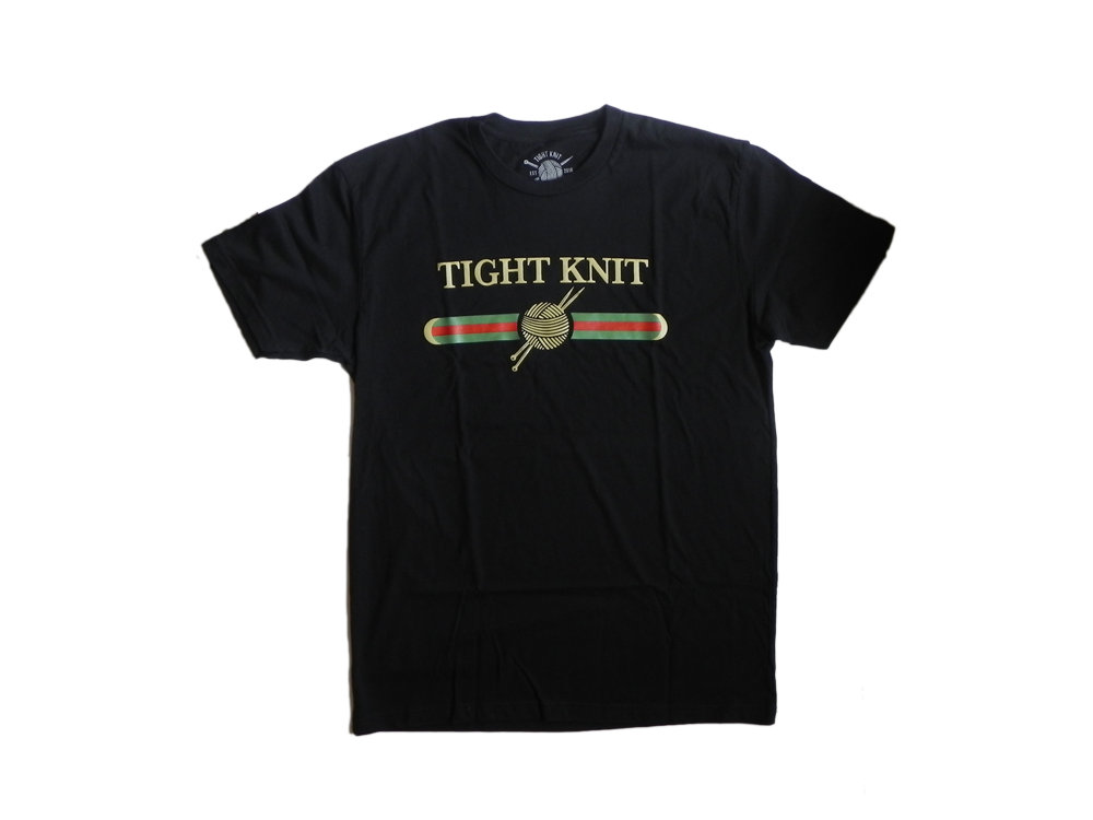 Black Tight Knit Goochi T-Shirt
