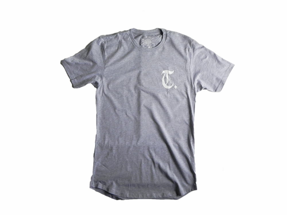 OE Drop Tee Heather Grey - Tight Knit Clothing