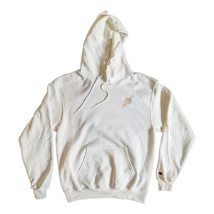 White/beige Eco Fleece Hoodie - Tight Knit Clothing