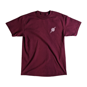 OG Logo Burgundy/Pink Tee - Tight Knit Clothing