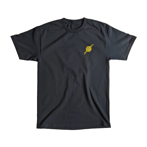 OG Logo Navy/Yellow Tee - Tight Knit Clothing
