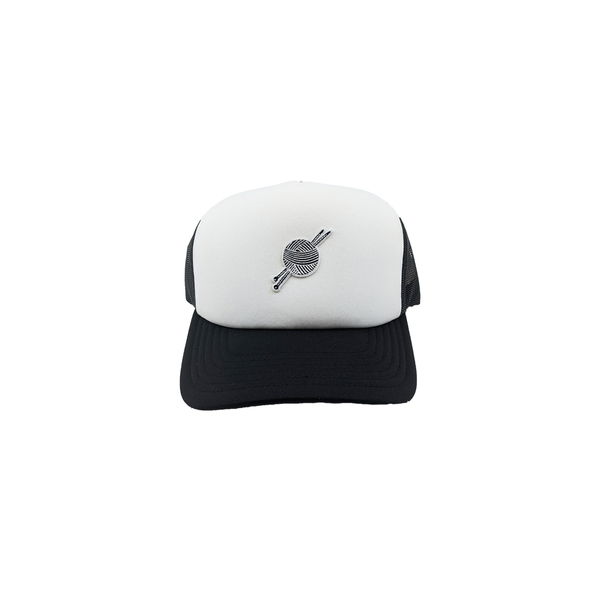 TK Black/White Foam Trucker - Tight Knit Clothing