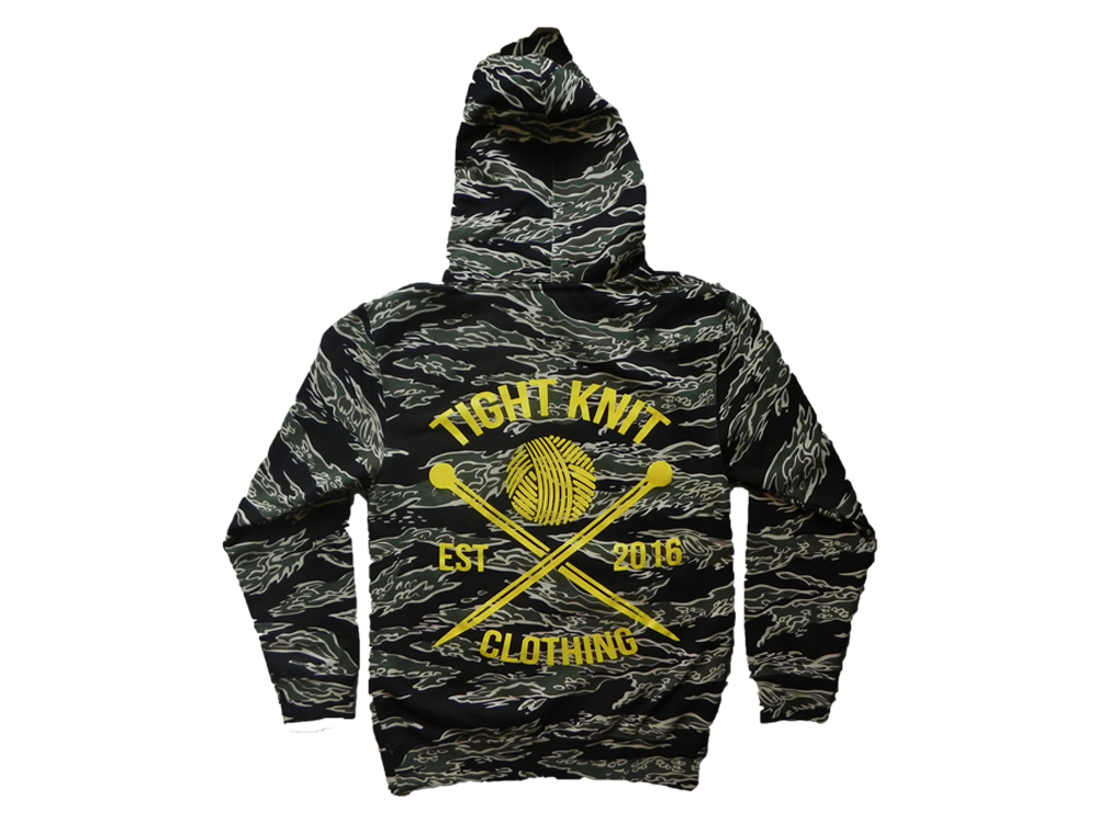 Tiger Camo Heavyweight Hoodie - Tight Knit Clothing