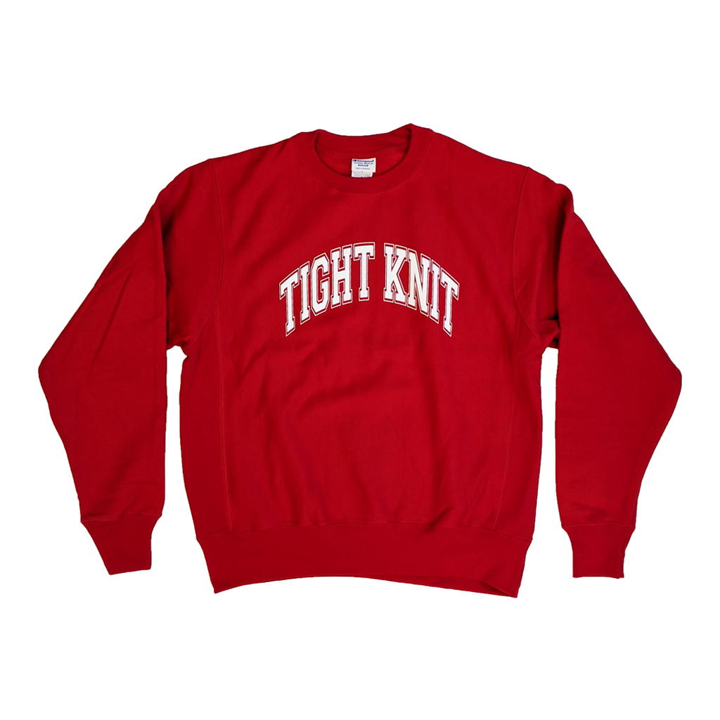 Tight Knit Collegiate Reverse Weave Crew