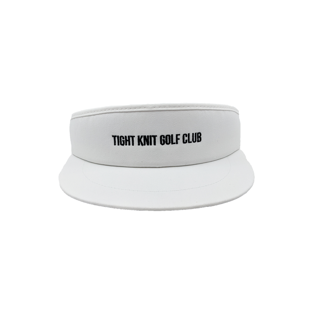 Tight Knit Golf Club White Visor - Tight Knit Clothing
