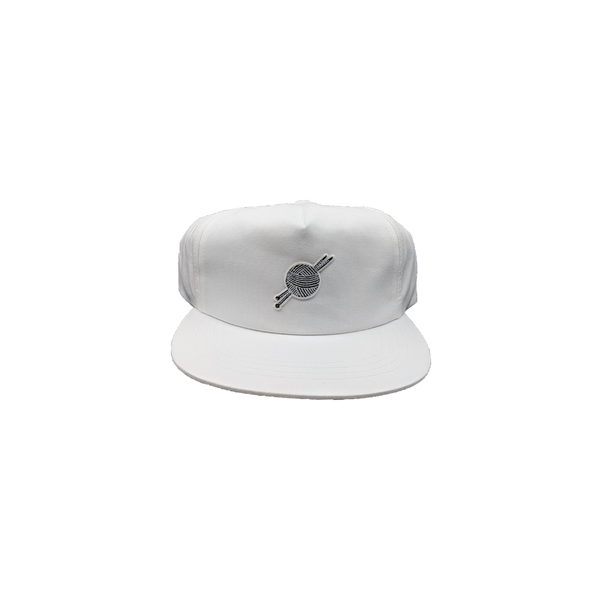 White OG Logo Unstructured Snapback - Tight Knit Clothing