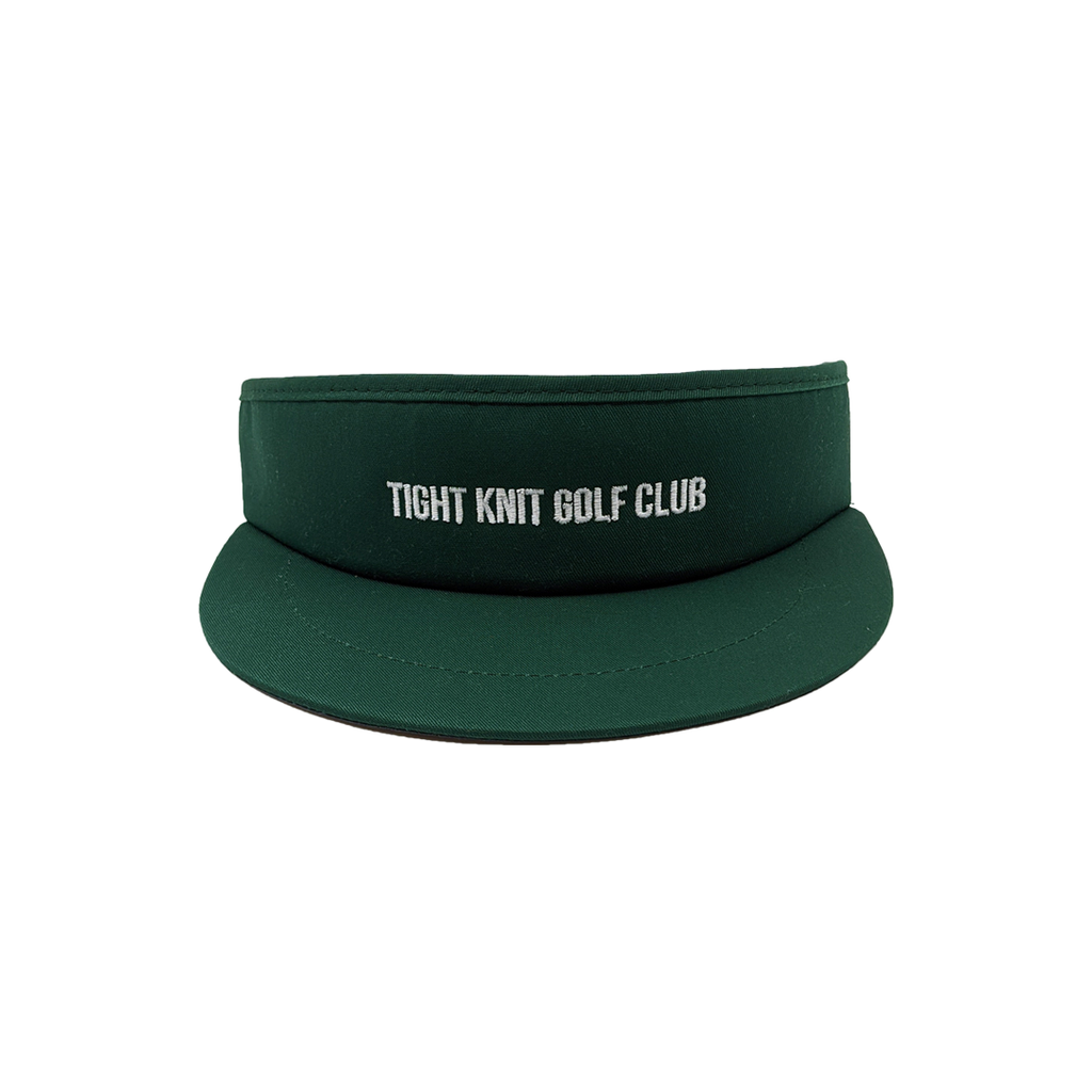 Tight Knit Golf Club Green Visor