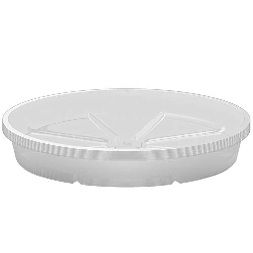 Tapix Clear Plant Saucers 12 inch, Plastic Plant Tray for Indoor and Outdoor 10 Pack