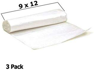 Tapix 9' X 12' Plastic Drop Cloth  Protection for Painting & Storage  108 Square Foot  1 Mil Thickness 3 Rolls