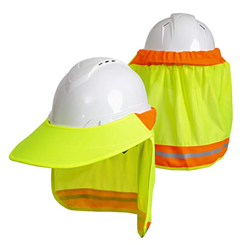 Hard Hat Neck Sun Shade  for Safety Hard Hat Helmets One Size Fits All - Yellow