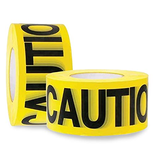Caution Tape 2 Pack 3 inch x 1000 feet