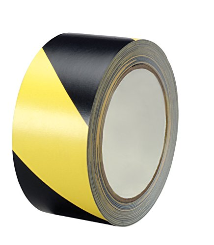 Black and Yellow Stripe Safety Stripe Tape 2in X 18Yds