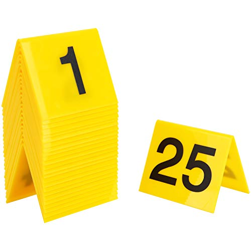 Crime Scene Tents Evidence Markers Number Tents 25 Pack