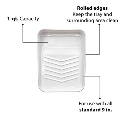 Tapix Deluxe Tray Liner, 1-qt. Capacity, 9-Inch, 10-Pack, Rolled Edges Studded Ramp