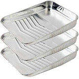9 inch Metal Paint Roller Tray 3 Pack Metal Paint Tray with 10 Pack Plastic Paint Tray Liner