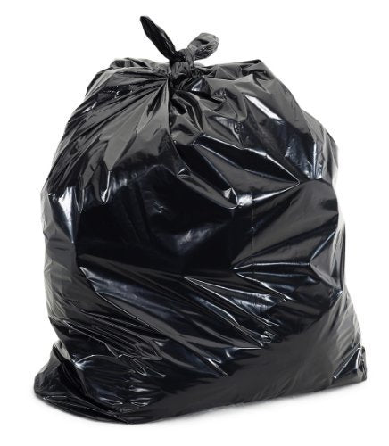 Super Value Heavy Duty Contractor Trash Bag, Extra Thick and Puncture Resistant, Black, 3 Mil, 20 Bags, 42 Gallon