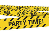 "Party Time! Party Tape 3"" x 300' Ft"