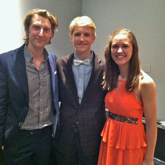George & Anna, pictured with Eric Hutchinson at the Then Event in May 2014