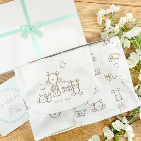 New Baby Hamper (5 Items) Teddy Fun  New Baby Gift Sets