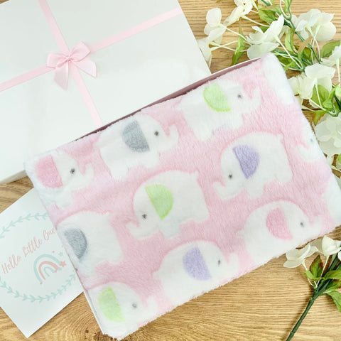 Baby Girl Gift Hamper  Ellie Elephant Blanket Baby Gifts