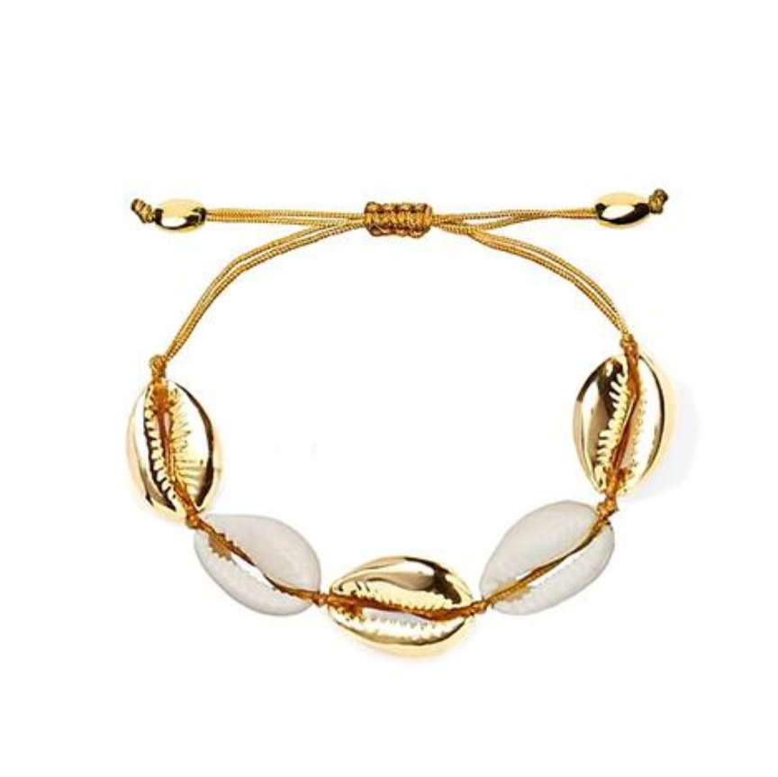 White and Gold Shell Bracelet