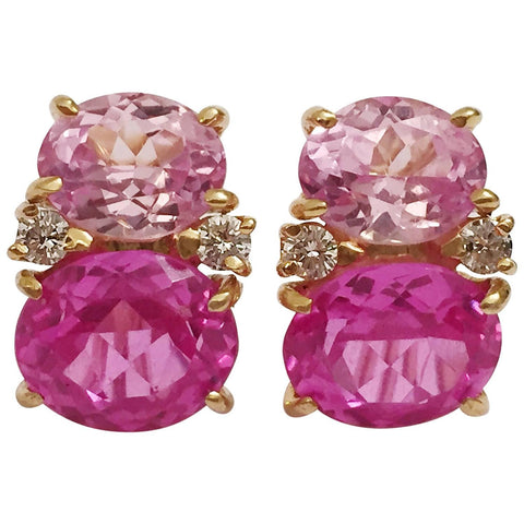 Medium 18kt Yellow Gold GUM DROP™ Two Toned Pink Topaz