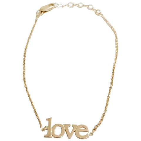 14kt Yellow Gold Small Love Bracelet