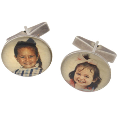 Personalized Sterling Picture Pendant Cufflinks
