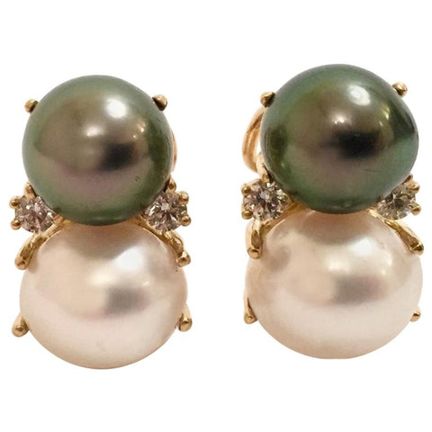18Karat Medium Gum Drop™ Earrings with Pearls and Diamonds