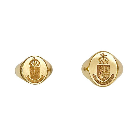 18kt Gold Family Crest or Signet Ring