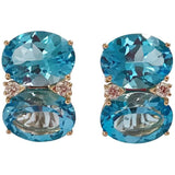 Grande GUM DROP™ earrings With Blue Topaz and Diamonds