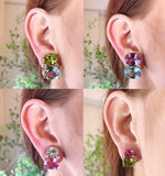 Medium Gum Drop™ Earrings with Pearls and Pink Topaz and Diamonds