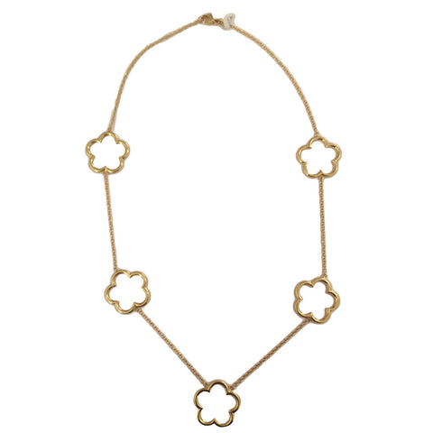 18kt Yellow Gold Clover Necklace
