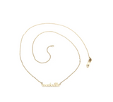 Beautiful Personalized Engraved Gold Circle Pendant and Chain