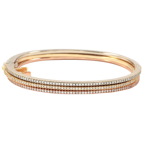 18kt Gold Bangles with Diamonds